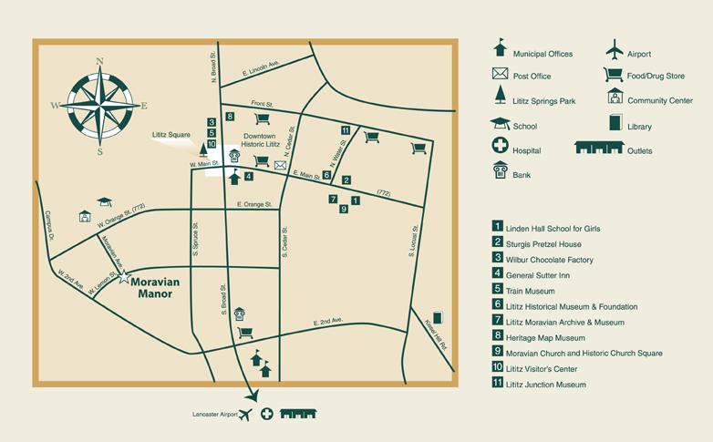 Moravian Campus Map.Moravian Manor Map Directions